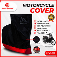 Sarung Motor PREMIUM AVARON REVO FIT / Penutup Pelindung Body Cover - Merah, L