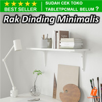 BURHLT Rak Dinding Gantung Kayu Minimalis Putih Serbaguna Multifungsi