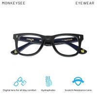 Rufus Piano Black Monkeysee Eyewear Kacamata anti blue ray anti UV