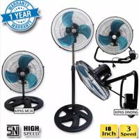 Kipas angin besi 3 in 1 ARASHI City Fan 18 inch/kipas angin besi 18