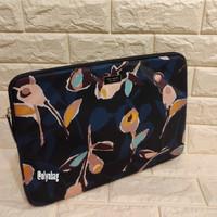 Laptop Sleeve Kate Spade - Down Paper Rose black multi