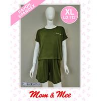 Piyama / Baju Tidur Spandex Rayon Oblong Polos PDK/PDK - Biru, L
