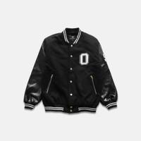 OOTDSUPPLY Varsity Jacket Black