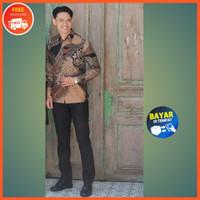 Batik Couple Kebaya Brukat Modern Baju Kapelan Pesta Kondangan Terbaru - Batik Pria, M