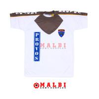 Kaos PROVOS POLRI Putih Kombinasi Pendek Sablon