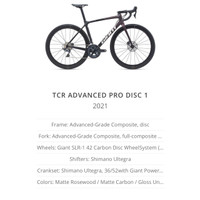 ROADBIKE GIANT TCR ADVANCED PRO DISC 1