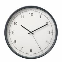 Jam dinding ukuran besar D38cm putih abuabu wallclock elegan