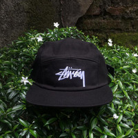 Stussy 5 Panel Camp Cap Black | Topi Baseball