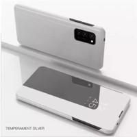 Casing Samsung Galaxy A52 A72 case flip cover mirror standing autolock