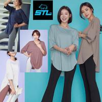 STL Baju Olahraga/Senam/Gym/Yoga wanita Lengan Pendek tersedia Jumbo