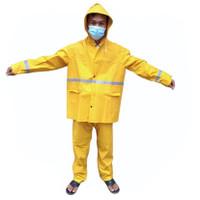 Jas Hujan Model Suit / Stellan kuning tebal