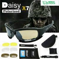 Kacamata Sepeda-Motor | Tactical | Sunglass Daisy X7 4 Lensa Original