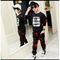 Setelan anak laki laki style Korea kekinian IMPORT/Baju anak 2in1/kids
