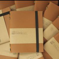 Custom Agenda Kulit/Buku Cover Kulit untuk Suvenir - Plain Refillable