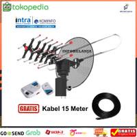 Antena Tv Digital Remote Intra 888 DGT Atena Luar Free Kabel 10 Meter