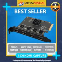 VMOX CAPTURE HDMI 4 INPUT 1080P Support Vmix OBS Wirecast
