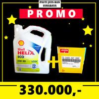PROMO Oli Shell Helix Eco 0W-20 + Filter Oli Avanza Xenia agya ayla