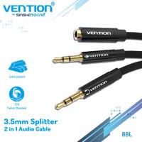 Vention BBL 0.3M Kabel Aux Audio Splitter 3.5mm Female to 2 Male Braid
