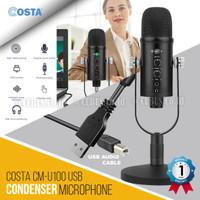 COSTA CM-U100 Microphone USB professional Condenser Podcast,Vocal