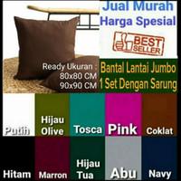 Bantal Lantai Polos Jumbo 80x80, 90x90 Harga Promo Murah Katun Micro