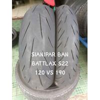 BAN BATTLAX S22 120 70 17 VS 190 55 17 NOT MICHELIN PIRELLI SC DUNLOP