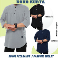 Baju Kaos Koko Kurta Pakistan Pria Ikhwan Muslim Simple Polos