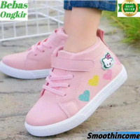 Sepatu Boots Anak Perempuan Terbaru Motif Hello Kitty Love Realpict