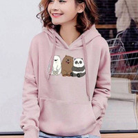 sweater bear hoodie hoody baju wanita anak remaja perempuan cewek