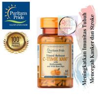 ORIGINAL Puritan Vitamin C-1000mg with Rose Hips Time Release 60 Caps