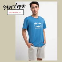Kaos T-shirt ORIGINAL GIORDANO Resmi Store Men Pria Laki-laki Cowok
