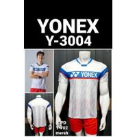 BAJU KAOS BADMINTON BULUTANGKIS YONEX 3004 PUTIH IMPORT GO
