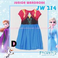 Dress Frozen casual anak/baju Frozen anak