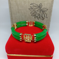 Gelang giok cina asli green jade premium quality giok china asli