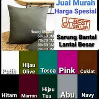 Sarung Bantal Lantai Jumbo 60x60, 70x70, 80x80, 90x90 Katun Micro