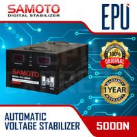 Stabilizer Samoto stabiliser 5000 VA Stavol Listrik SMT Svc Avr 5000N