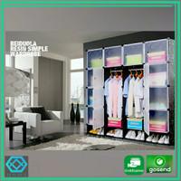 Lemari Baju Plastik DIY 16 Pintu
