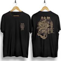 Baju Kaos Distro Unisex Motif Jepang Lukisan Naga