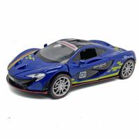 Mclaren Diecast Mainan Anak Mobil Diecast Pajangan Miniatur Model Kit - Biru