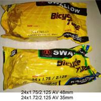 Ban Dalam Sepeda Swallow 24 x 1.75 / 2.125 - 24 x 175 / 2125 Swallow
