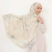 Jilbab AZLOE CREAM - Novella Scarf Hijab Segi Empat Superfine Voal
