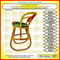 Kursi Dudukan Depan Anak Motor Manual - Bangku Rotan Sepeda Montor Beb