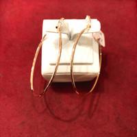 Anting ring bulat wanita emas 17k / 750