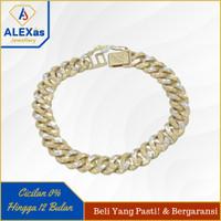 Gelang sisik naga emas kuning 375 perhiasan emas original alexas 18