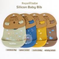 Royale Bebe Silicone Baby Bib / Celemek Makan Bayi