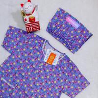 Baju Tidur HOKI SHEILA Katun wanita Celana 3/4 (Tulip)