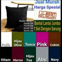 Bantal Lantai Polos Besar 60x60, 70x70 Harga Promo Murah Katun Micro