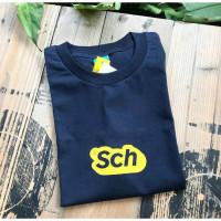 Baju Kaos T Shirt SCH Unisex Fashion Full Cotton Combed 30s D