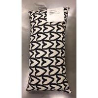 LYKTFIBBLA Bantal kursi IKEA - Corak putih dan hitam