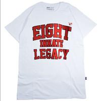 Pakaian Pria Atasan Kaos Putih EIGHT TM434
