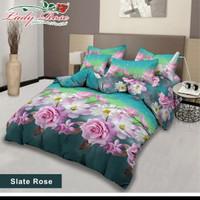 bed cover lady rose sprei karet no2 uk 160x200 motif Slate Rose